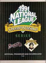 1991 NLCS Game program Braves @ Pirates NL Championship - $44.55