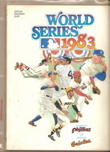 1983 World Series Official Program Orioles Phillies - $32.73
