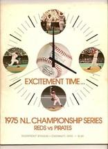 1975 NLCS program Pittsburgh Pirates @ Cincinnati Reds - $79.48