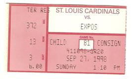 Mark McGwire 70th Home Run Ticket Stub 9/27/98 - $79.48