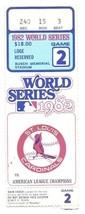 1982 World Series Game 2 Ticket Stub Brewers Cardinals - $107.53