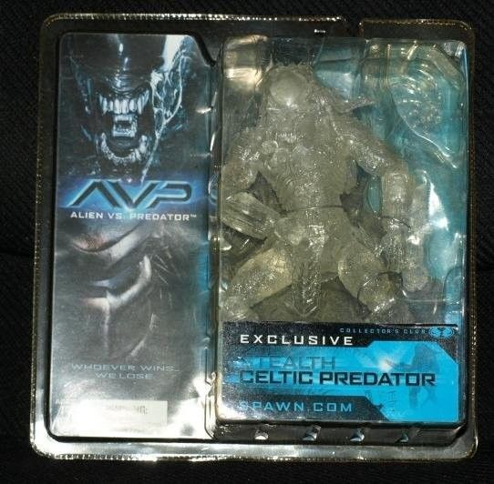 Primary image for 2004 Mcfarlane AVP Stealth Celtic Predator Club Exclusive Action Figure VHTF