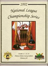 1992 NLCS Game program Pirates @ Braves NL Championship - $42.08