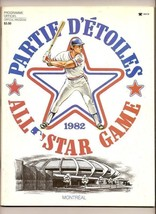 1982 MLB All Star Game Program Montreal - $32.73