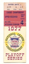1977 NLCS Game 4 Ticket Stub Dodgers Phillies MLB Playoffs Clincher - $42.08