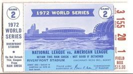 1972 World Series Ticket Stub Game 2 Reds A's - $107.53