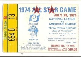 1974 MLB Baseball All Star Game Ticket Stub Pittsburgh - $94.05