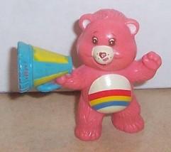 1984 Kenner Care Bears Cheer Bear Mini Pvc Figure Vintage 80's #4 - $14.00