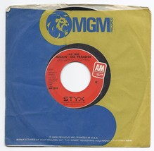 "1980 Styx Rockin' The Paradise / Don't Let it End 7"" 45 Record A & M AM ... - $9.50"