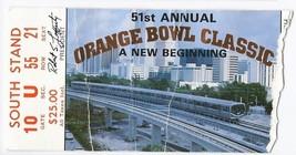 1985 Orange Bowl Game ticket stub washington Oklahoma - $70.13