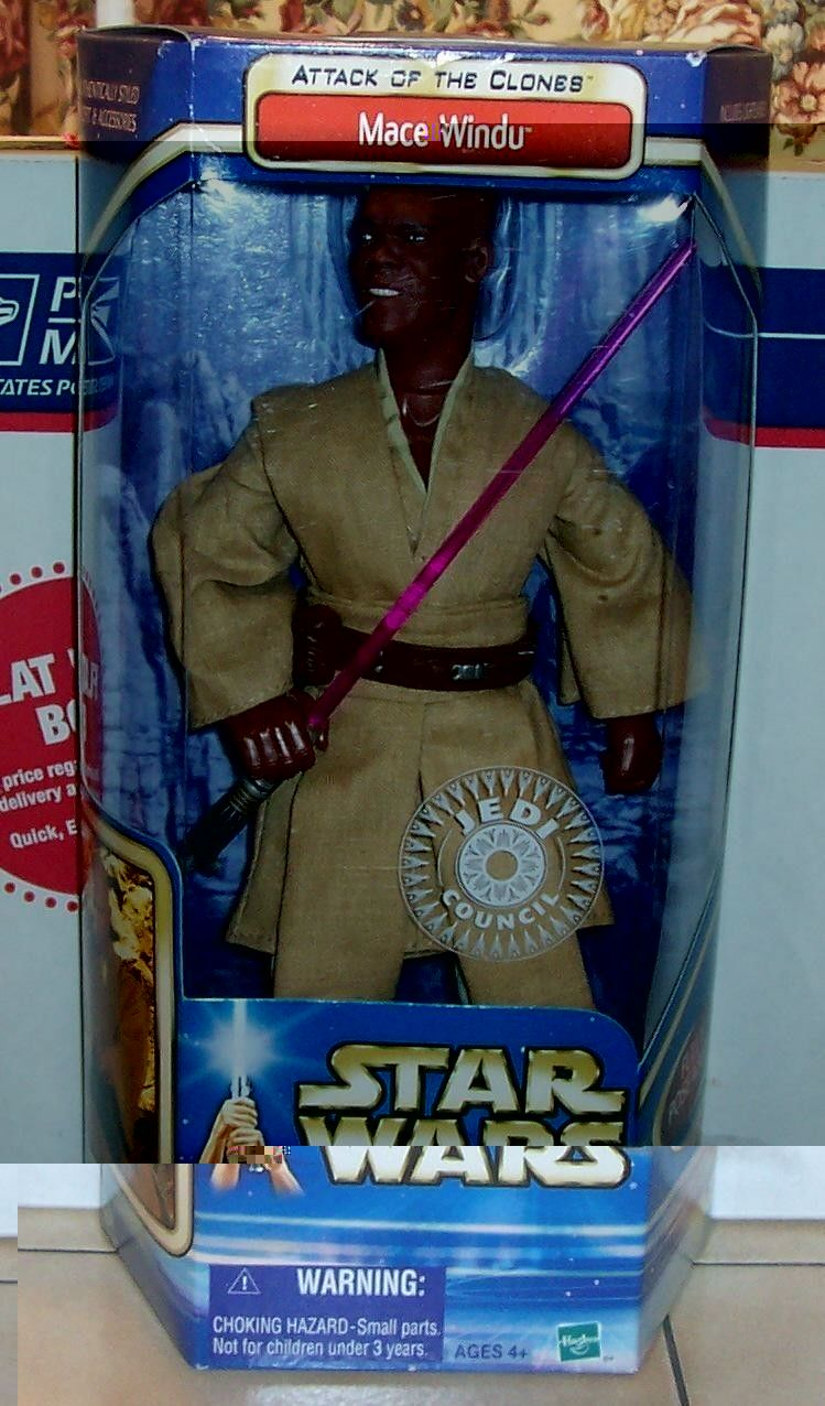 Primary image for 2002 Star Wars AOTC attack of the clones Mace Windu TRU Exclusive action figure