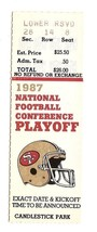 1987 NFL Playoff ticket Stub 49ers Vikings Divisional Rice Montana - $60.78