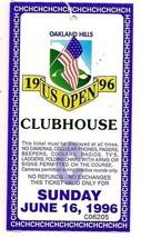 1996 US Open ticket Sunday June 16th Final Round Oakland Hills - $60.78