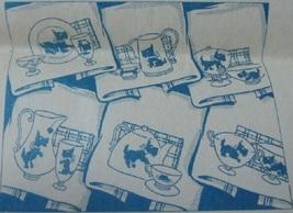 Scottie Dog Kitchen Towels embroidery pattern LW2890 - $5.00