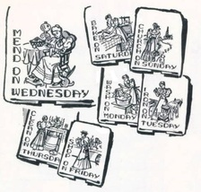 Old Fasion Lady DOW  dish - kitchen TOWELs  embroidery pattern mo2529  - $5.00