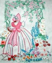 Crinoline Lady under Arbor embroidery pattern Deighton1511 - $5.00