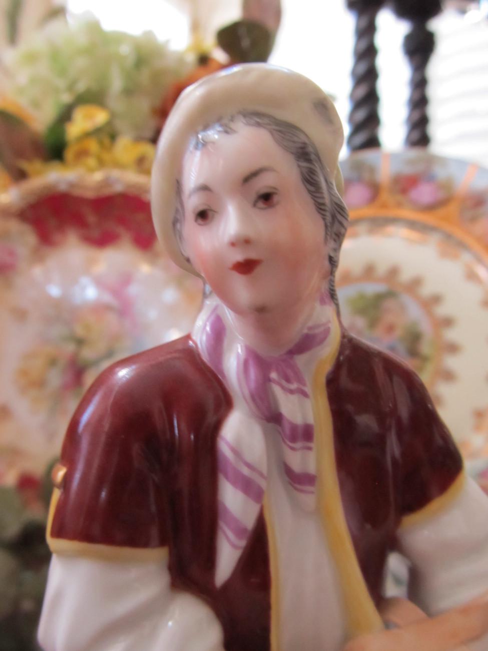 Royal Vienna / Augarten Wien / Vienna Porcelain Factory Sausage Vendor Figurine