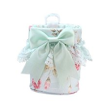 Cute Floral Bowknot&Lace Car Cup Holder Storage Bucket/Organizer,3.93.5'',Green