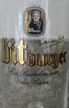 Bitburger German Beer .25l Glass Goblet Bitte E... - $10.88