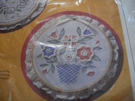 Memory Bouquet Candlewicking Kit: Comes with Fabric, Hoop, Lace, Floss, ... - $18.00