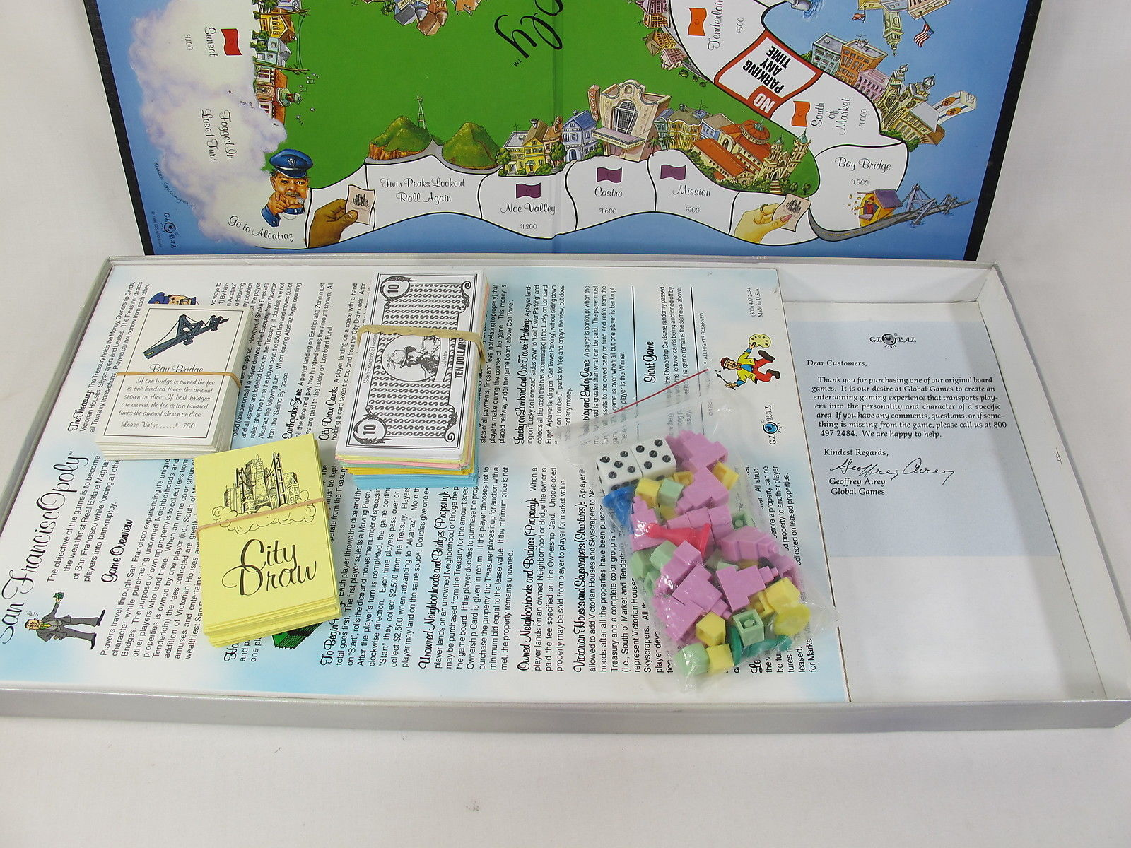 San Francisco Opoly Monopoly Board Game 100 And 50 Similar Items
