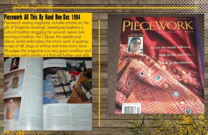 Piecework All This By Hand Nov/Dec 1994 Stitch Pattern