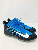 Nike Alpha Menace Elite Football Cleats Carolina Blue Black 877140-410 Size 13 - $57.95