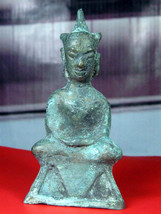 Very Rare! Ancient Phra Chai-Ngang Khmer 400 Years Top Thai Buddha Amulet - $19.99