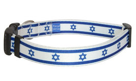 Medium Israeli Flag Dog Collar - $12.00