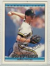 bob patterson signed autographed card 1992 donruss - $9.90