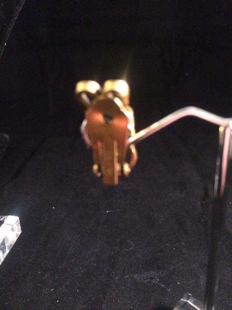 Vintage Pair Freirich Earrings Clip Goldtone Dangle