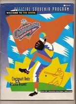 1995 NLCS Game program Braves Reds MLB NL Championship - $42.08