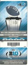 2011 Big 10 Championship Full Ticket Michigan State Wisconsin - $88.83
