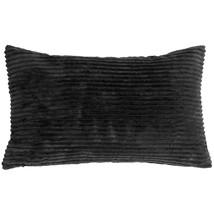 Pillow Decor - Wide Wale Corduroy 12x20 Black Throw Pillow - $29.95