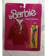 1986 Mattel Barbie Doll Fancy Fashion Clothes Outfit 2875 Red Robe Vinta... - $20.00