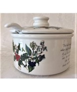 Portmeirion Holly and Ivy Cranberry Dish with Lid - $42.00