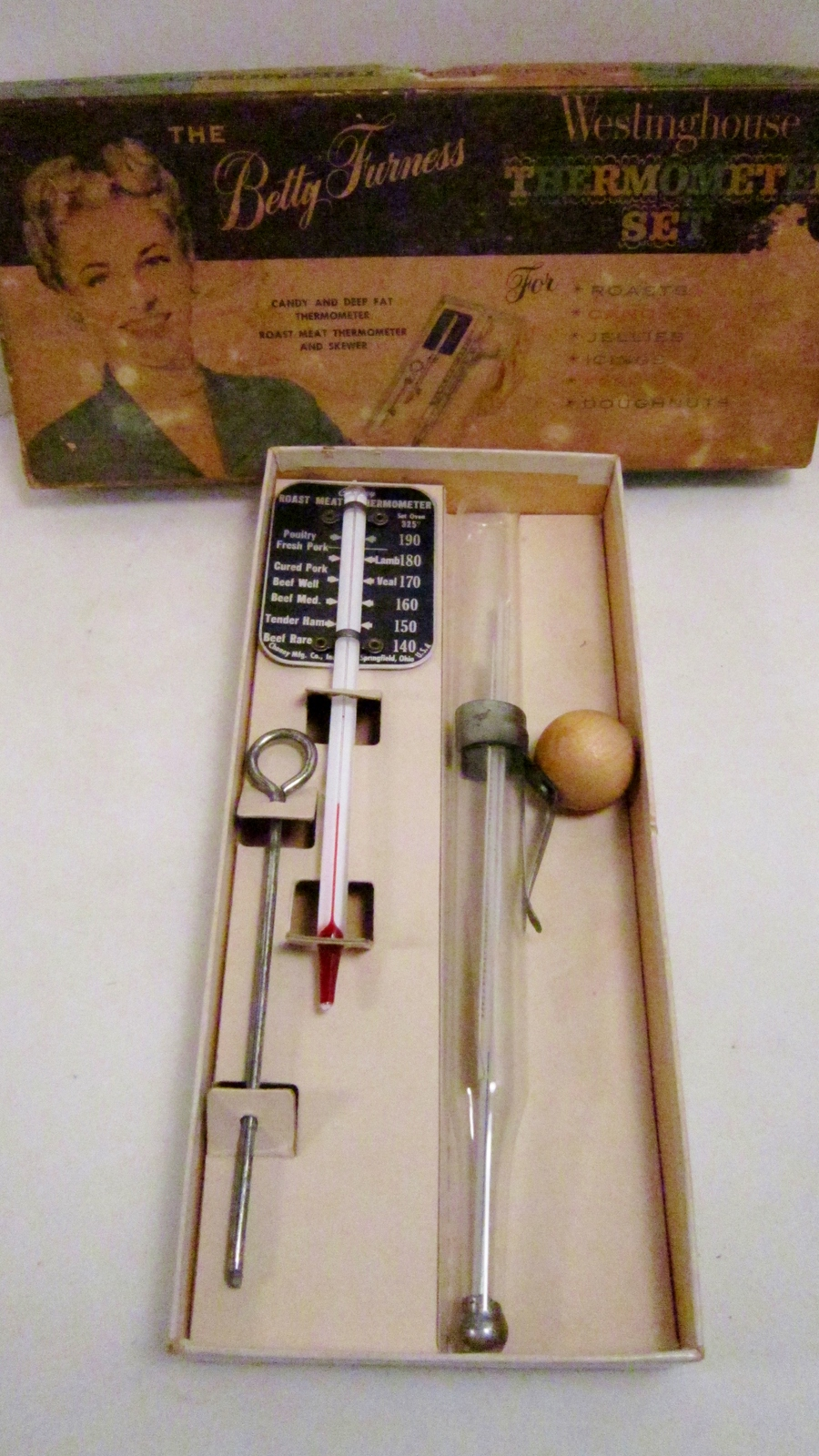 Chaney trutemp thermometer set 1950s betty furness westinghouse 01