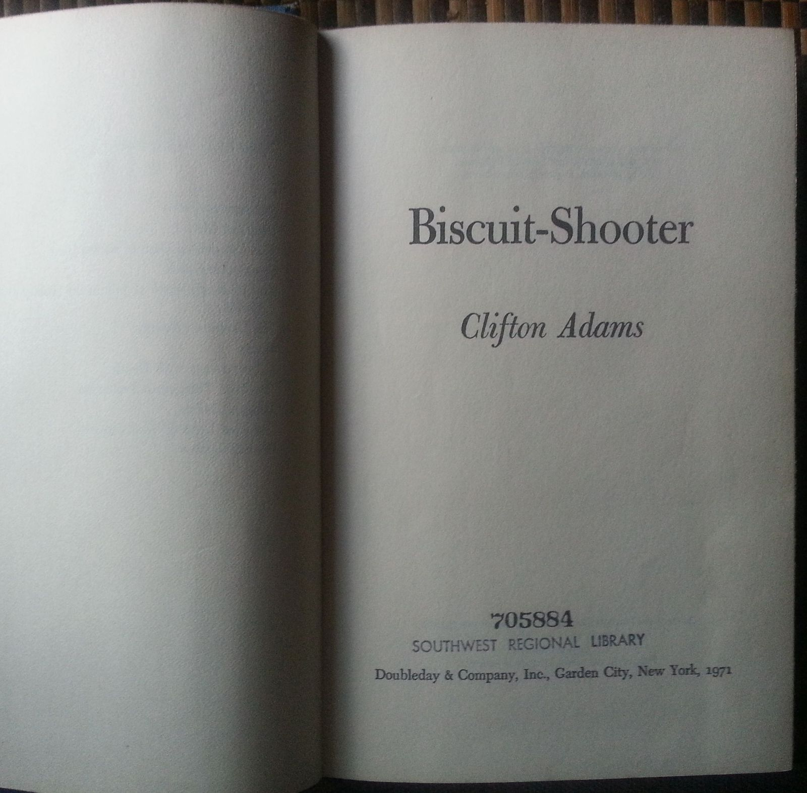Biscuit-Shooter by Clifton Adams 1971 HBDJ Jug-Headed Cowboy