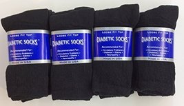 12 Pairs of Mens Black Diabetic Crew Socks 13-15 Size [Health and Beauty] - $22.76
