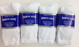 12 Pairs of Mens White Diabetic Crew Socks 13-15 Size [Health and Beauty] - $19.79