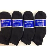 12 Pairs of Mens Black Diabetic Ankle Socks 13-15 Size [Health and Beauty] - $22.76