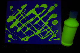 8oz Bottle Yellow UV Blacklight Reactive TEMPERA Paint - $9.95