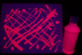 8oz Bottle Pink UV Blacklight Reactive TEMPERA Paint - $9.95