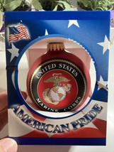 Krebs Christmas Red Ornament United States Marine Corps Semper Fi 1775 -... - $11.43