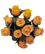 144 HARVEST GOLD Poly Rose Bud Silk Favor Flower Pick Wedding Shower - $6.99