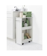Bath Cart Rolling Storage Shelves Bathroom Organizer Slim Mobile Portabl... - $73.49