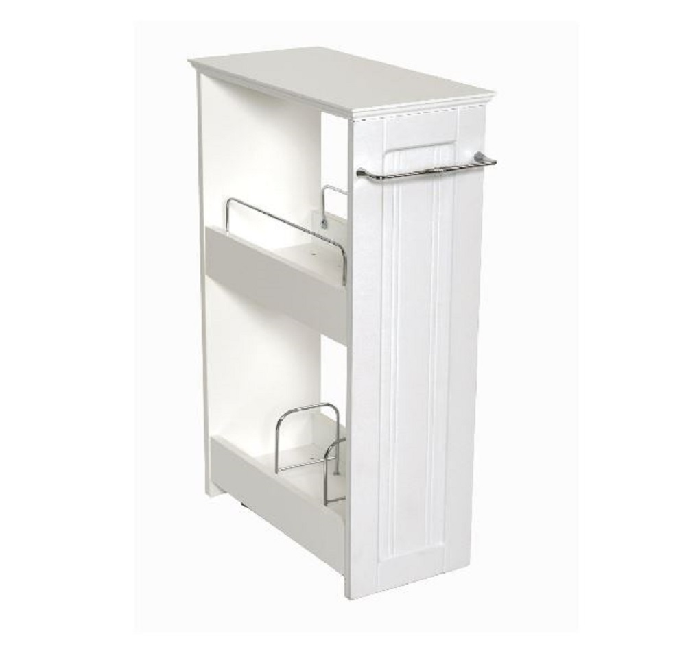 Bathroom storage shelf slim mobile bath shelves rolling for Bathroom organizers