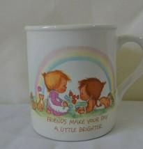 VINTAGE HALLMARK MUG MATES FRIENDS COFFEE CUP MUG 1983 BETSY CLARK - $19.79