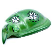 Tabaka Chigware Hand Carved Kisii Soapstone Green Sleeping Cat Figure image 5