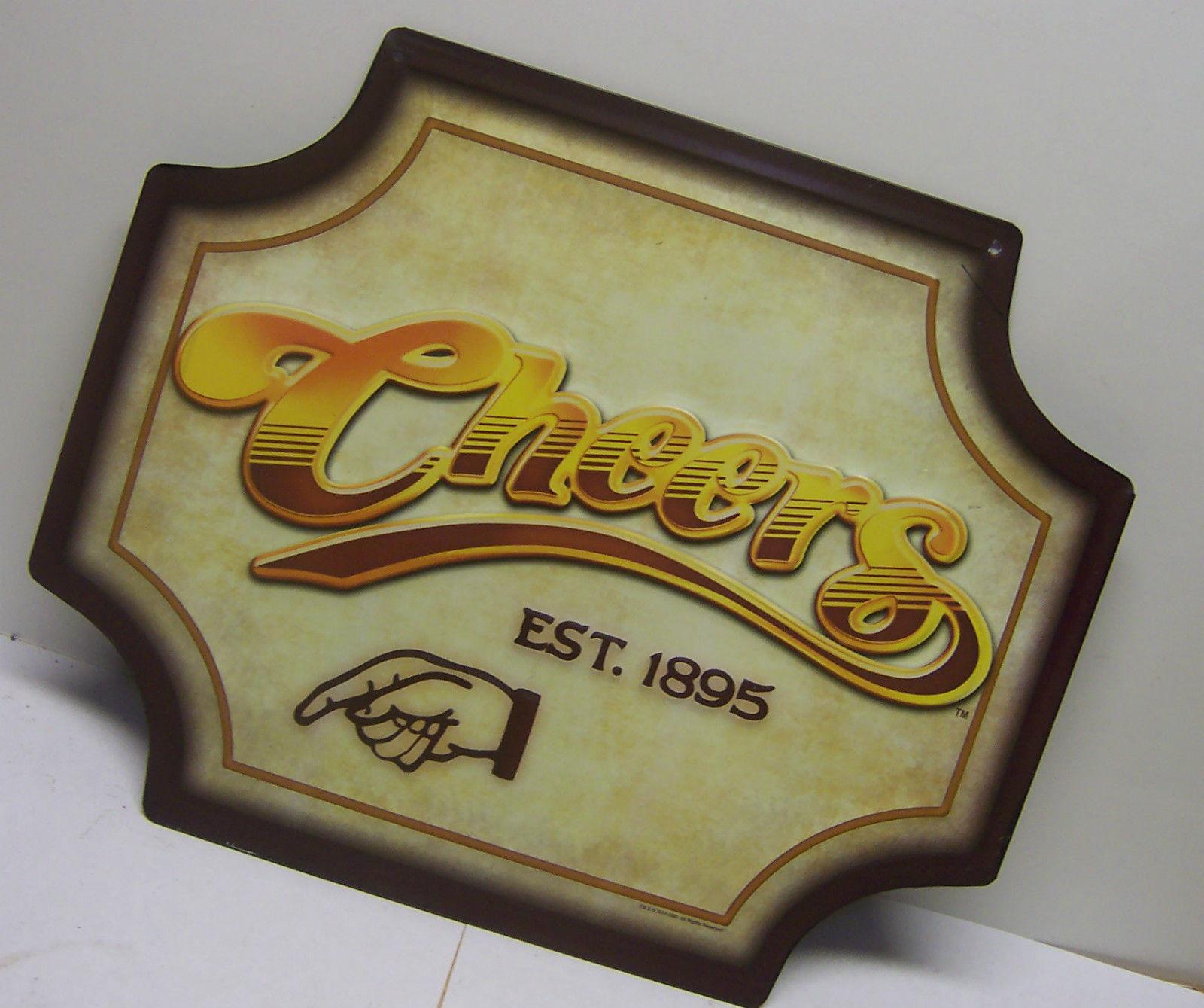 Cheers Bar Est 1895 Metal Sign